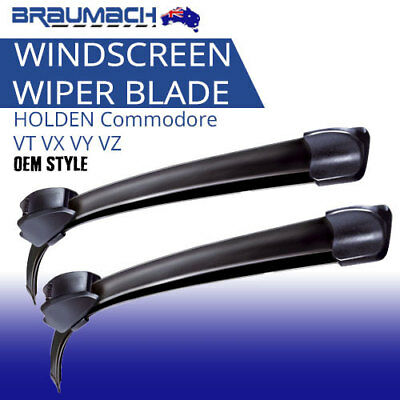 Windscreen Wiper Blades Suit HOLDEN Commodore 1997-2006 VT VX VY VZ Aero Design