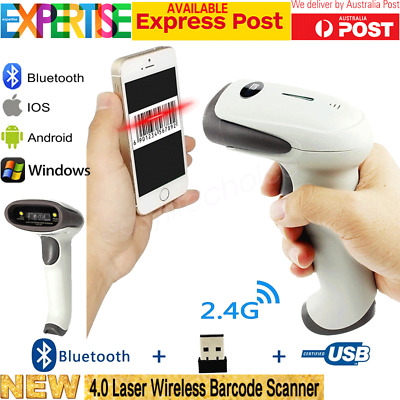Bluetooth 4 Wireless Laser USB Barcode Scanner Reader Android Apple IOS Windows
