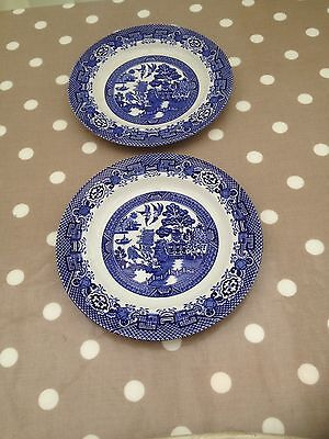 Warranted Staffordshire Blue Willow  Plates Ha & Co L England