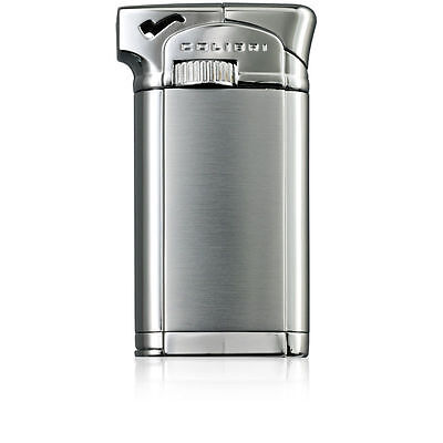 Colibri Connaught Silver Lacquer Soft Flame Pipe Lighter Luxury Gift Box. NEW