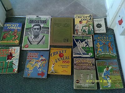 x12 - Cricket Annuals & Pocket Handbooks 1940s & 1950s Collection / Job Lot