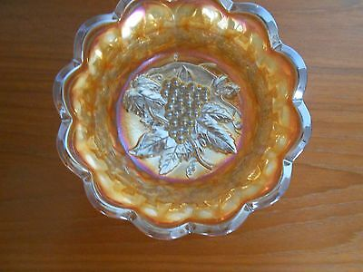 Iridescent Carnival Glass Bowl