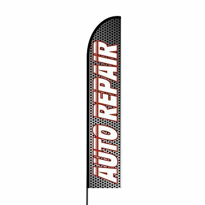 ALIGNMENT Auto Repair Swooper Flag Tall Curved Feather Bow Flutter Banner Sign
