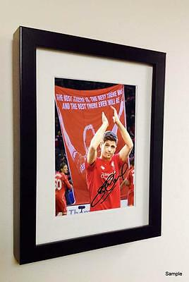 """Signed """"THE LAST GAME"""" Steven Gerrard Liverpool Autographed Photo Picture Frame"""