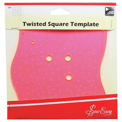 Sew Easy Quilters Acrylic Twisted Square Template