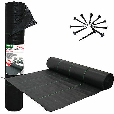 100G Heavy Duty Weed Control Fabric Ground Cover Membrane Landscape Garden Mulch