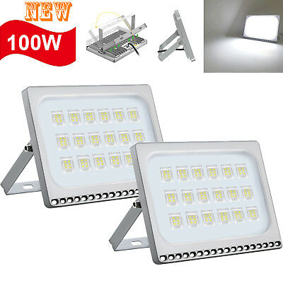 5X 80W LED Sensor Flood Light Warm White Lamp Outdoor Security Floodlight 240V