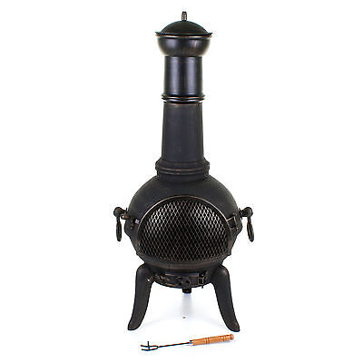 Garden Cast Iron Steel Chimenea Chimnea Chiminea Heater Wood Fire Pit Patio
