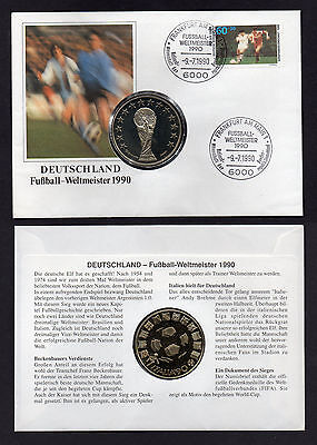 m10186 Numisbrief Coin Cover Medaille World Cup FIFA Italia 1990 Fussball