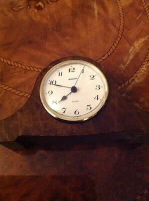 Vintage Staiger Mantel Clock Germany quartz working perfect very rare and colact