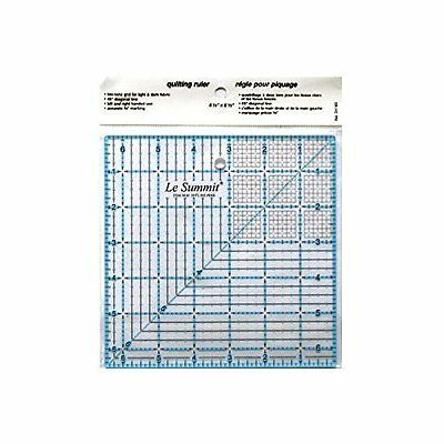 Transparent Patchwork & Quilting Ruler / Template with Grid 6.5 inch x 6.5 inch