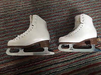White Ice Skating Boots size 1