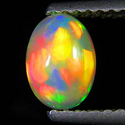 MUSEUM GRADE! 360 DEGREE! 3D EFFECT! Rainbow Flash Solid Precious Opal