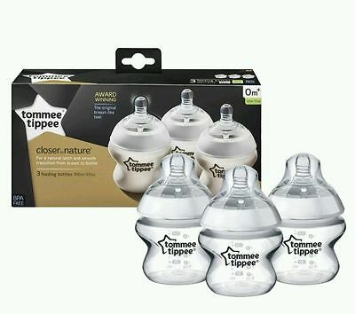 Tommee Tippee Closer to Nature Slow-Flow Teat Newborn, 3 x 150ml