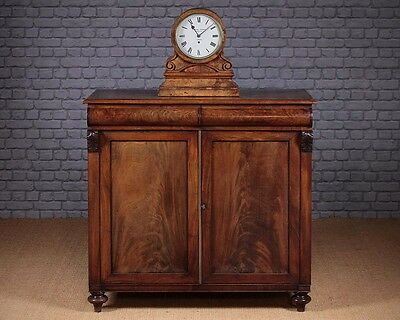 Antique William IV Mahogany Chiffonier Side Cabinet c.1835.