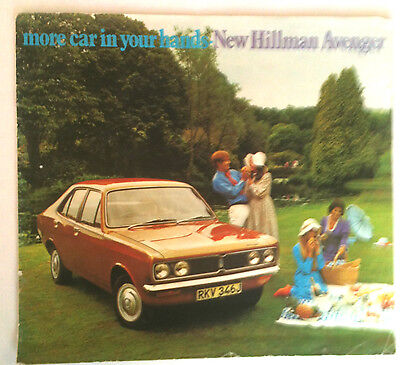 HILLMAN AVENGER 1250 1500 DELUXE SUPER GL 1970 UK market launch brochure