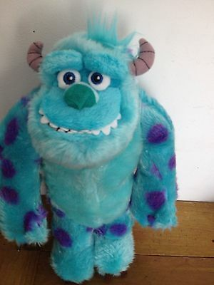 "Sulley Disney Store Large 14"" Talking Monsters Inc Sully Plush Soft Toy Moving"