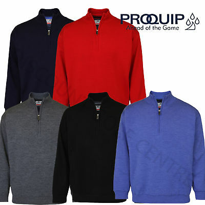 f5a29d68b899 GREG NORMAN 2018 Mens 1 4 Button Merino J930 Wind Top Sweater Jumper ...