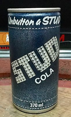 Stud Cola . 370ml. C/S Button Top .Soda Can.