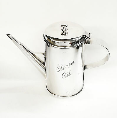 Rare Sterling Silver Olive Oil Jug / Can Handmade London 1994