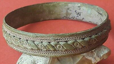 Fantastic Ancient Late Viking Silver Bracelet
