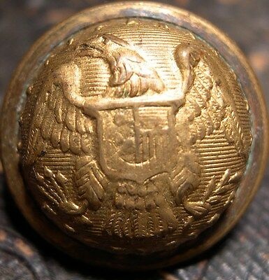 Officers New York Coat Button - Marshal Fields & Co Chic Ill - Post Civil War
