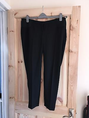 maternity black trousers size 14