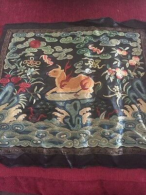 chinese embroidered Square