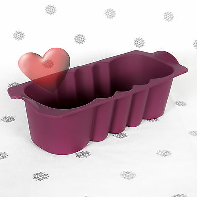 NEW Tupperware Tupcakes Loaf Form Silicone Baking Cake Mould Tray Purple