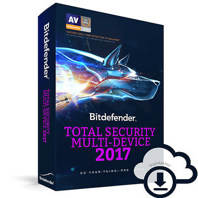 Bitdefender Total Security Multi-Device 2017 | 10 Device | 1Year | ESD