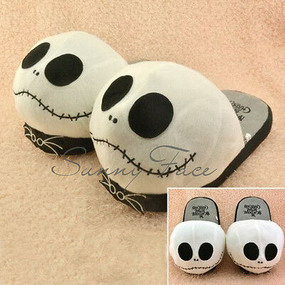 Halloween Cosplay The Nightmare Before Christmas Plush Slippers Home Shoes  チ