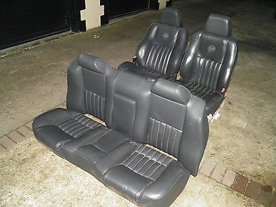 Alfa Romeo 166 1998-2008 --- Black Leather Front and Rear Electric Seats