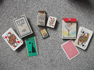 3 packs of vintage playing cards in original boxes