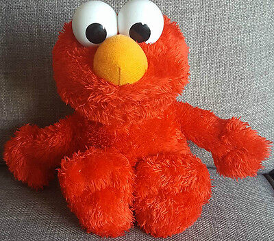 """Sesame Street Sing Along With Elmo Talking Soft Toy By Hasbro 10"""" tall"""