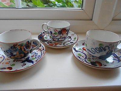 Allerton GAUDY WELSH  Pattern Coffee cup and Saucer  Vintage Collector