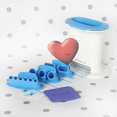 NEW Tupperware Tupperchef Snack Press for Gnocchi Biscuits Blue and White