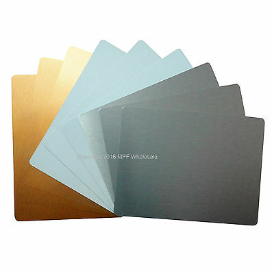 Blank Aluminium Metal Sheets Signs 200x150mm Dye Sublimation Printing
