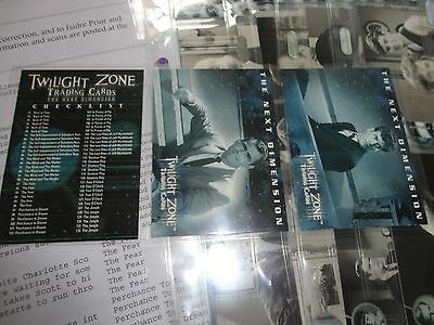 Rittenhouse Twilight Zone Next Dimension trading card and stars set promo Topps
