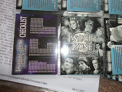 Rittenhouse Twilight Zone Series 3 trading card & stars set promo Topps Shatner