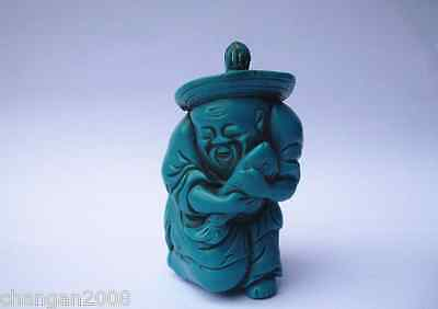 Rare Collectable turquoise fisherman perfume snuff