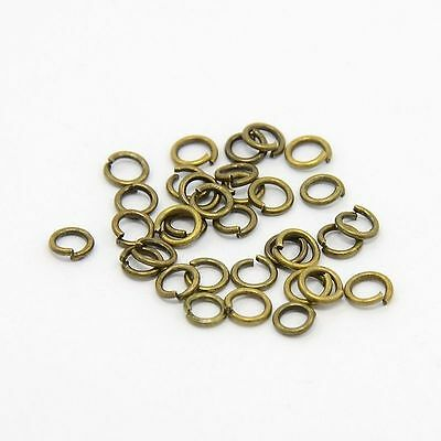 50g Iron Jump Rings Close but Unsoldered Antique Bronze Color 278pcs/10g Finding