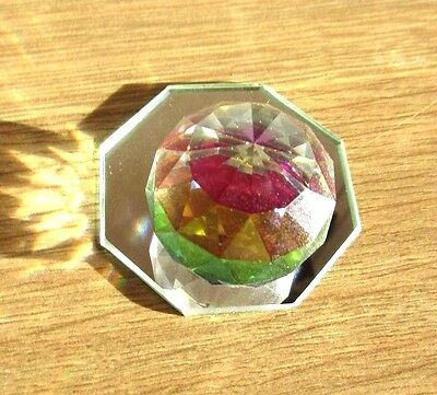 Swarovski Crystal coloured ball, paperweight.Retired.