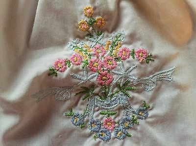 Vintage White Baby Dress Or Top  With Embroidery On Front
