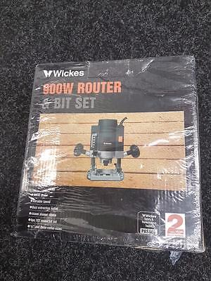 Wickes Electric Router 900w AND BIT SET - ***NEW*** (ref:SB)