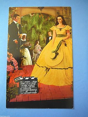 Postcard USA / Movieland Wax Museum /Gone with the wind Clark Gable Vivien Leigh