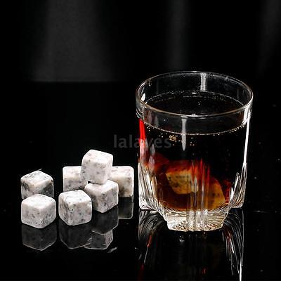 Anself Beer Drinks Whiskey Stones Rock Ice Cubes Cooler Freezer 20mm 12pcs I9V1
