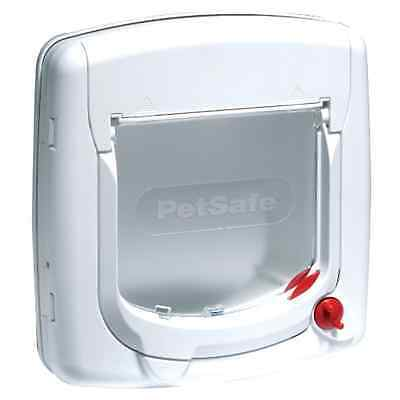 PetSafe Staywell Deluxe Manual 4-Way Locking Cat Flap - White - UK SELLER