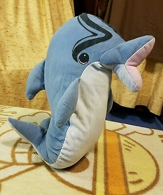 """1996 Approx 14"""" Flipper The Dolphin Stuffed Animal Plush That Squeaks By Toy Biz"""