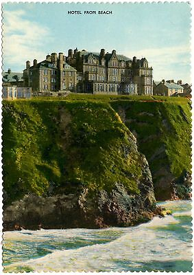 Hotel Victoria - Newquay - Hotel from Beach - postcard