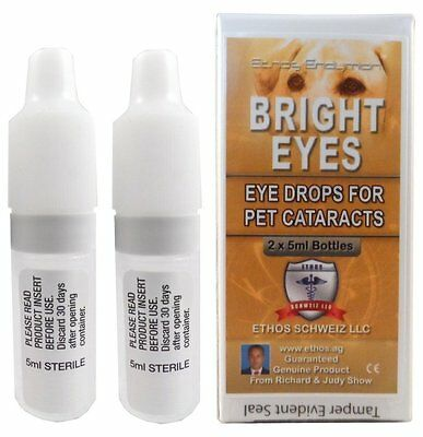 Ethos Bright Eyes Cataract Eye Drops For Pets 2 X 5 Ml Bottles